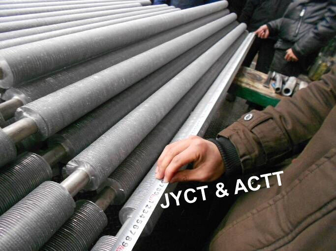 Copper Nickel / Aluminum Extruded Finned Tube For Heat Exchanger Condenser