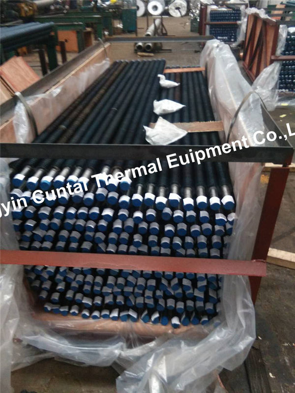 Solid Spiral HF Welded Finned Tubes For Power Plant Boiler / Industry Boilers