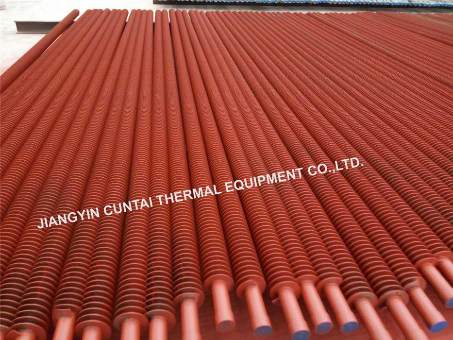 Sprial Welded Finned Tubes , Fired Heaters Helical Fin Tube Carbon Steel Material
