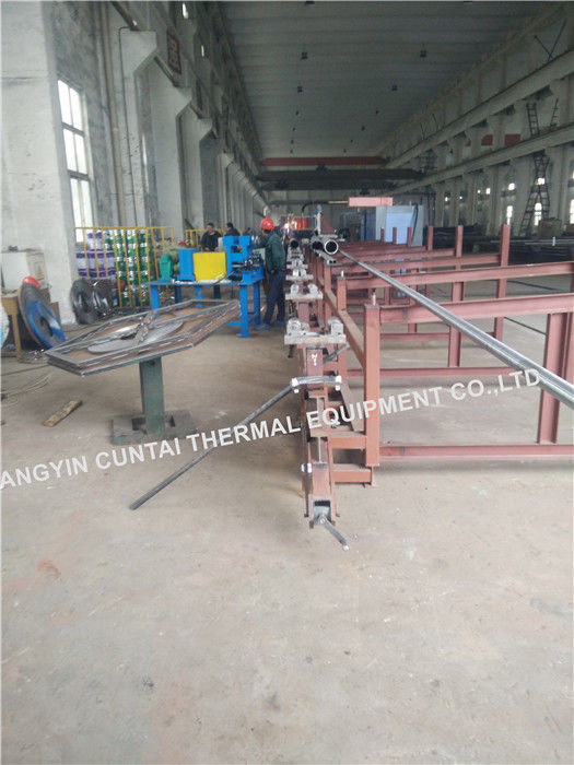High Frenquency Steel Fin Tube Welding Machine For Boilers / Economizers